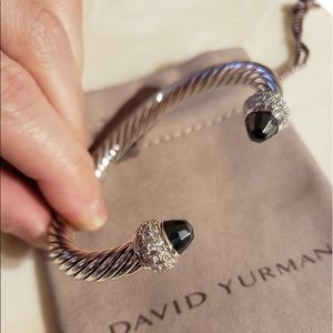 David Yurman 7mm new style 3 row diamonds RARE